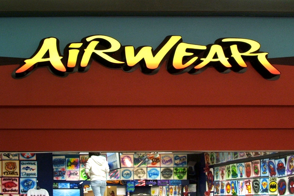 AirWear custom channel letters