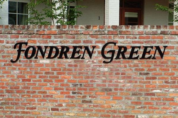 Fondren Green Plastic Molded Letters