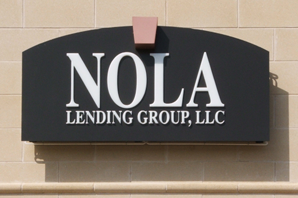 NOLA Lending - Lighted Cabinet with Aluminum Face and Pushed-through Acrylic Copy