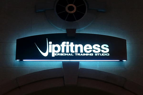 VIP Fitness - Lighted Cabinet with Aluminum Face and Pushed-through Acrylic Copy