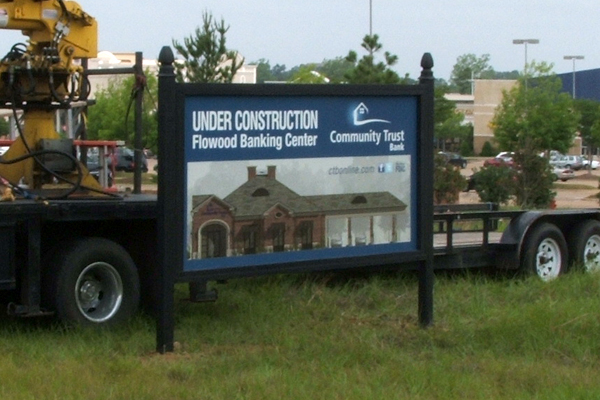 Community Trust Bank - Wood Sign with Full Color Printed Vinyl Graphics