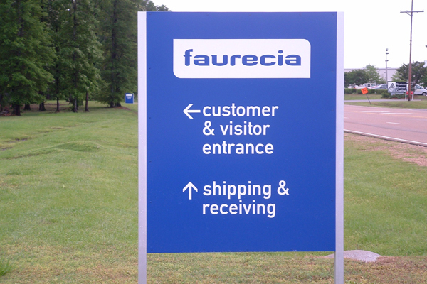 Faurecia - directionals with vinyl graphics