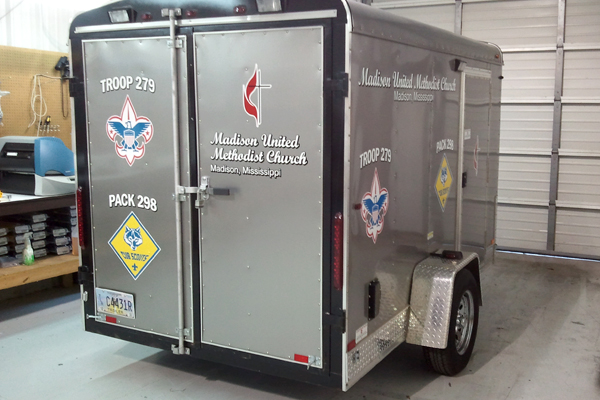Boy Scouts of America - Vinyl graphics applied to trailer